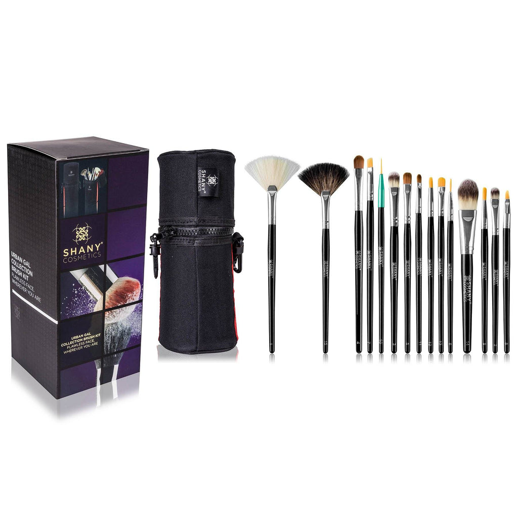 SHANY Travel Brush Kit -  - ITEM# SH-BRUSH-CASE-RD - makeup contour brush set Holiday gift for her mom,it cosmetics brushes BH brush set BS-MALL Makeup,morphe brush set Makeup Brushes Premium Synthetic,cosmetics brush set applicator makeup brush sets,makeup brush set with case Zoreya brush bag makeup - UPC# 721405558421