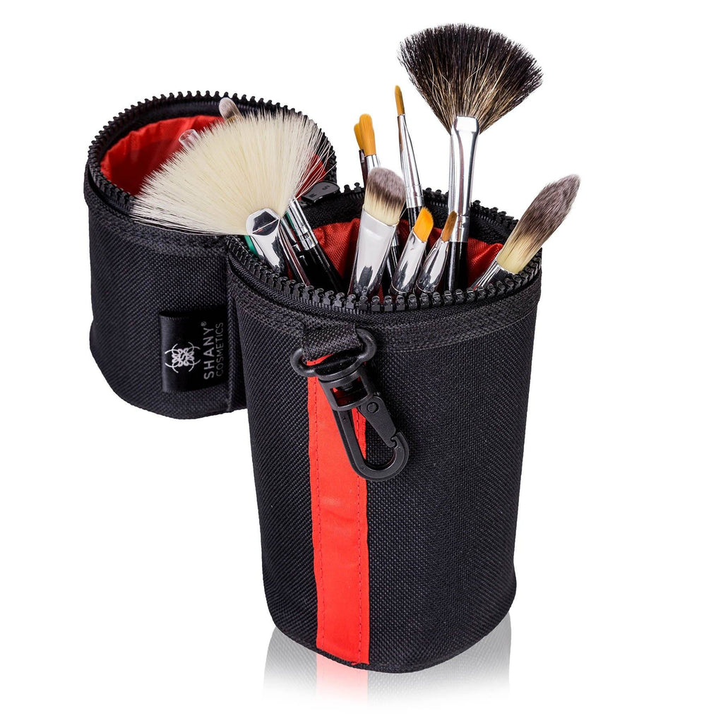 SHANY Travel Brush Kit with Premium Natural Hair Bristles with Carry On Case -  Brush Set - 15pc - SHOP  - BRUSH SETS - ITEM# SH-BRUSH-CASE-RD