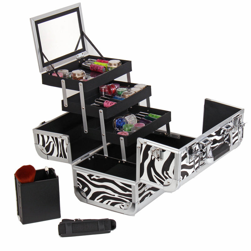 SHANY Fantasy Collection - Zebra - ZEBRA TEXTURE - ITEM# SH-C20-ZB - Best seller in cosmetics MAKEUP TRAIN CASES category