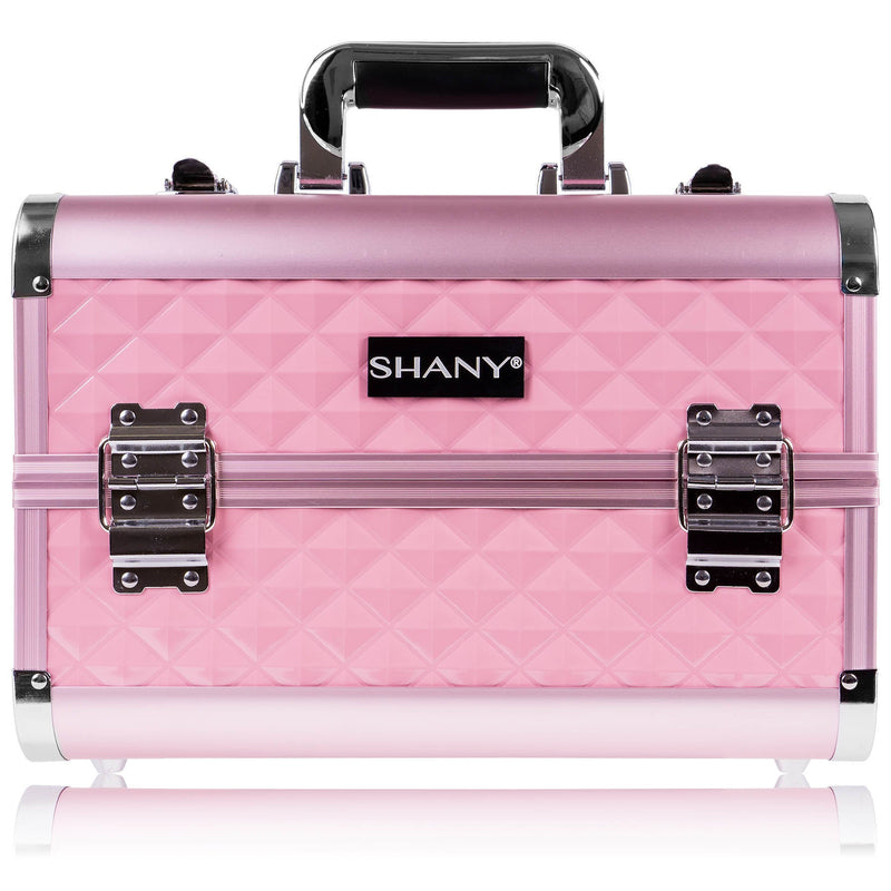 SHANY Fantasy Collection Case - Pink - PINK - ITEM# SH-C20-PK - Makeup train cases bag organizer storage women kit,Professional large mini travel rolling toiletry,Joligrace ollieroo seya soho cosmetics holder box,Salon brush artist high quality water resistant,Portable carry trolley lipstic luggage lock key - UPC# 030955521800