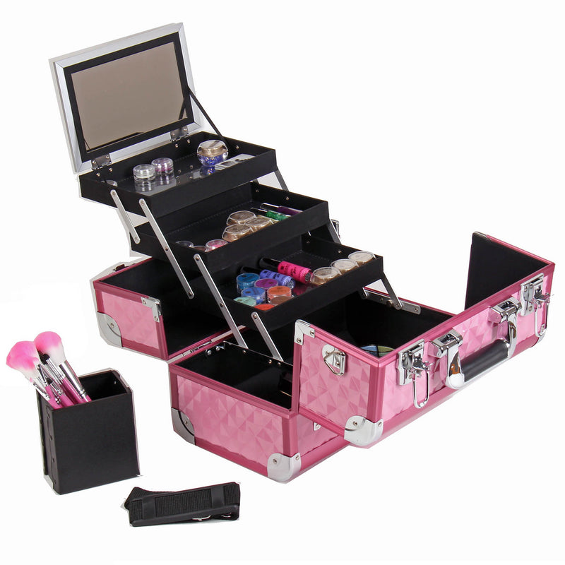 SHANY Fantasy Collection Case - Pink - PINK - ITEM# SH-C20-PK - Best seller in cosmetics MAKEUP TRAIN CASES category