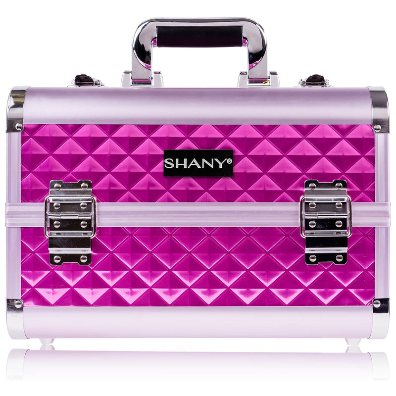 SHANY Fantasy Collection Makeup - Purple Diamond - PURPLE DIAMOND - ITEM# SH-C20-PR - Makeup train cases bag organizer storage women kit,Professional large mini travel rolling toiletry,Joligrace ollieroo seya soho cosmetics holder box,Salon brush artist high quality water resistant,Portable carry trolley lipstic luggage lock key - UPC# 030955521817