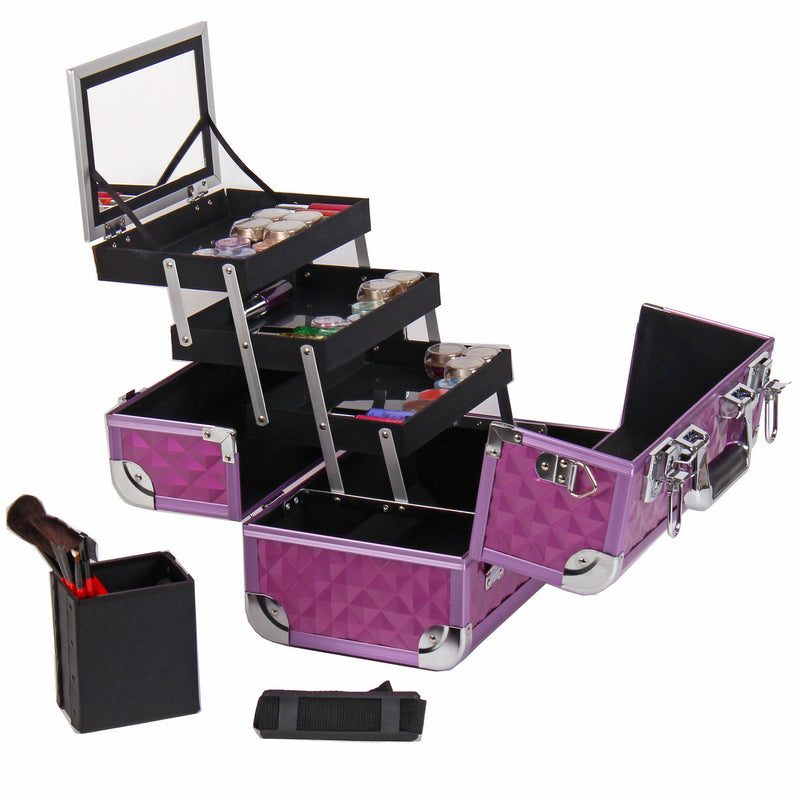 SHANY Fantasy Collection Makeup - Purple Diamond - PURPLE DIAMOND - ITEM# SH-C20-PR - Best seller in cosmetics MAKEUP TRAIN CASES category