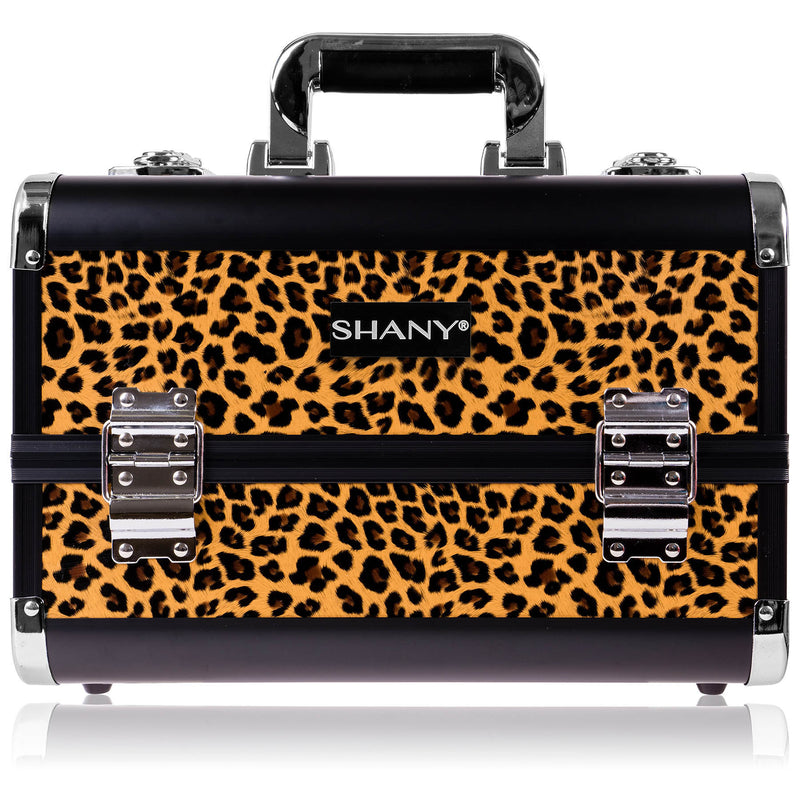SHANY Fantasy Collection Makeup Case -  Leopard - LEOPARDS TEXTURE - ITEM# SH-C20-LP - Makeup train cases bag organizer storage women kit,Professional large mini travel rolling toiletry,Joligrace ollieroo seya soho cosmetics holder box,Salon brush artist high quality water resistant,Portable carry trolley lipstic luggage lock key - UPC# 030955521824