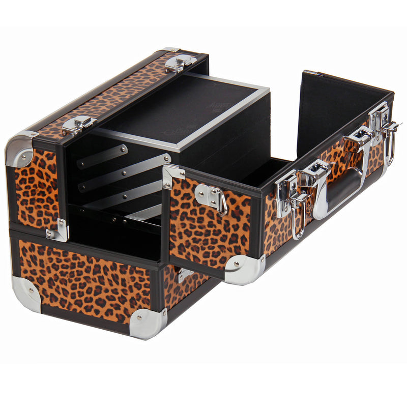 SHANY Fantasy Collection Makeup Case -  Leopard - LEOPARDS TEXTURE - ITEM# SH-C20-LP - Best seller in cosmetics MAKEUP TRAIN CASES category