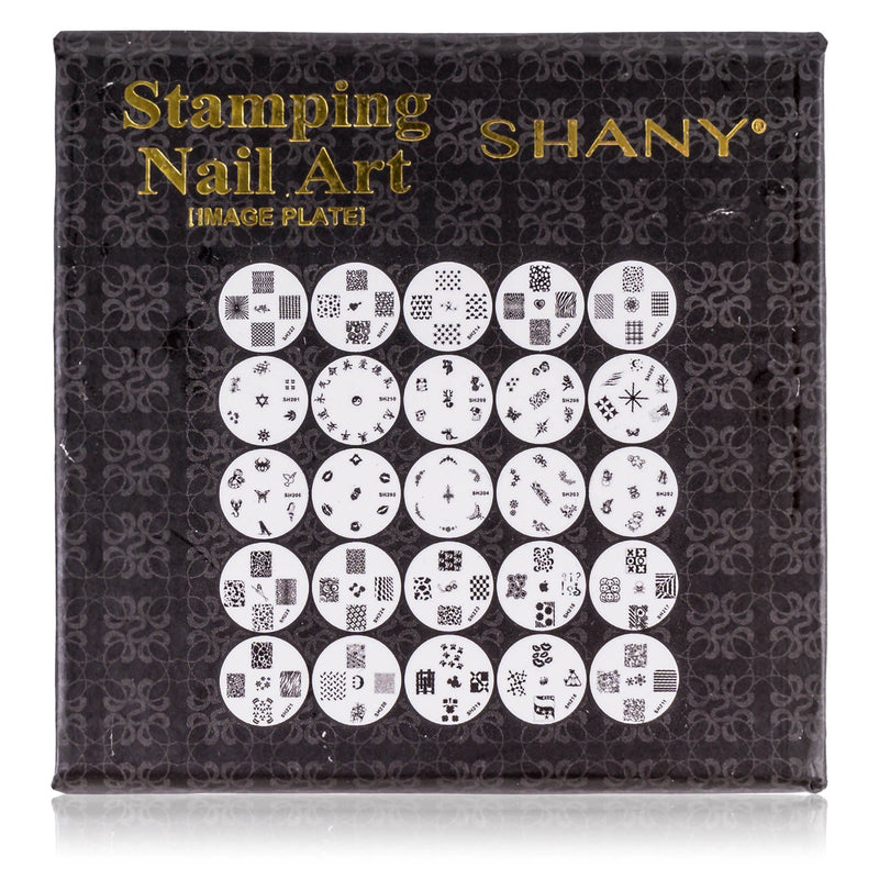 SHANY Nail Art Polish Image Plate Set -  - ITEM# SH-IMAGEPLATES-PARENT - Nail decoration art artificial dotting pen glitter,Style design manicure shape tips professional coat,Amope opi sticker pattern color paint polish clean,Electric luxury file spa fashion salon massager,Scissors brush smooth women cream clipper gel kits - UPC#