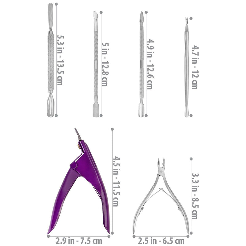 SHANY Manicure Tool Set -  - ITEM# SH-MANI-6PC-L - Best seller in cosmetics MANICURE/PEDICURE category