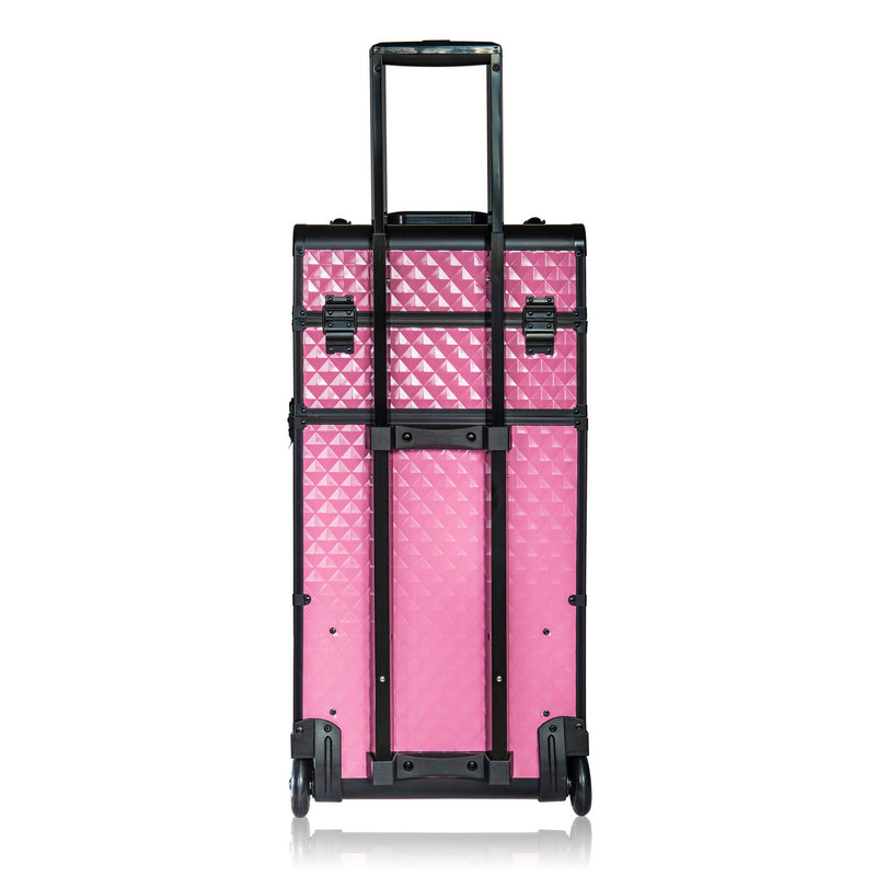 SHANY REBEL Series Pro  Case - Provocative Rose - PINK - ITEM# SH-REBEL-PK - Best seller in cosmetics ROLLING MAKEUP CASES category