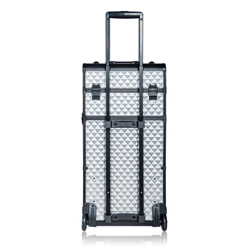 SHANY REBEL Series Professional Case - Silver - SILVER - ITEM# SH-REBEL-SL - Best seller in cosmetics ROLLING MAKEUP CASES category