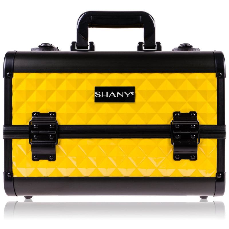 SHANY Premier Fantasy - New York Taxi - NY TAXI - ITEM# SH-C20-YL - Makeup train cases bag organizer storage women kit,Professional large mini travel rolling toiletry,Joligrace ollieroo seya soho cosmetics holder box,Salon brush artist high quality water resistant,Portable carry trolley lipstic luggage lock key - UPC# 723175178199