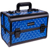 SHANY Premier Fantasy Collection Makeup Artists Cosmetics Train Case - Divine Blue - SHOP DIVINE BLUE - MAKEUP TRAIN CASES - ITEM# SH-C20-BL