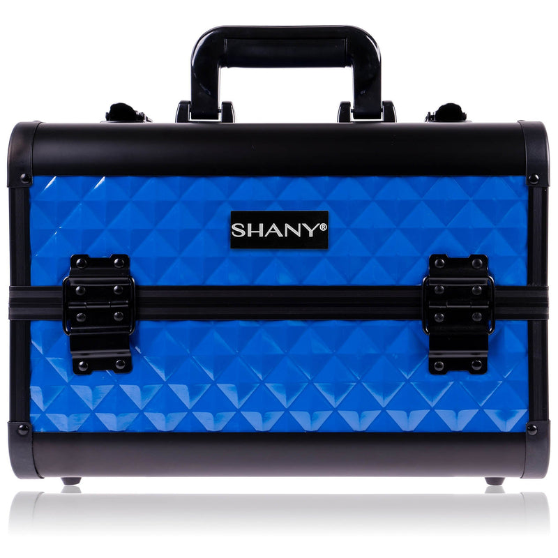 SHANY Fantasy Collection Case - Divine Blue - DIVINE BLUE - ITEM# SH-C20-BL - Makeup train cases bag organizer storage women kit,Professional large mini travel rolling toiletry,Joligrace ollieroo seya soho cosmetics holder box,Salon brush artist high quality water resistant,Portable carry trolley lipstic luggage lock key - UPC# 723175178229