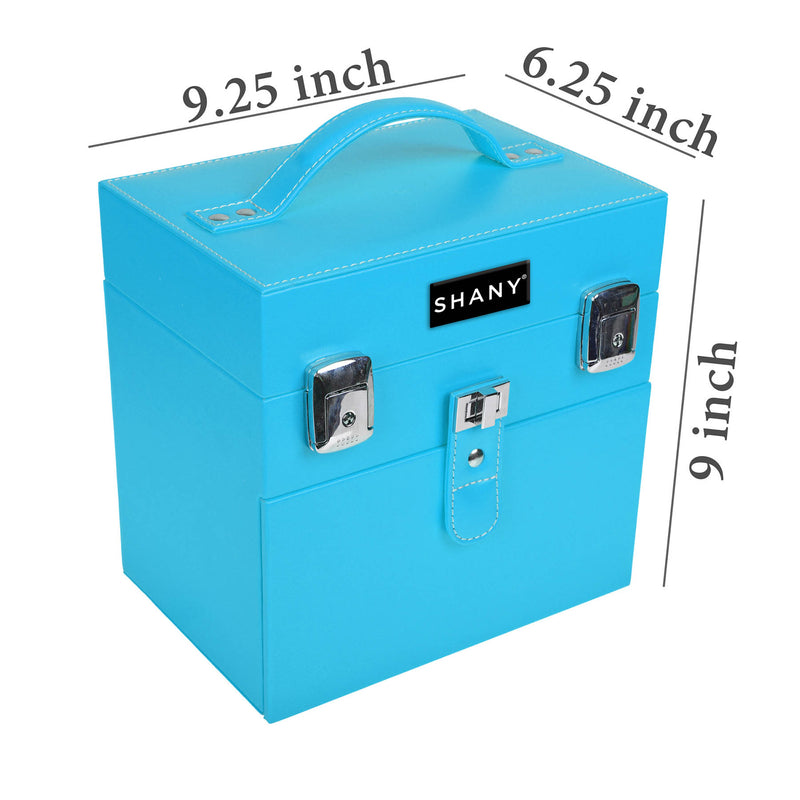 SHANY Color Matters Case - Viscous Blue - VICIOUS BLUE - ITEM# SH-CC0024-BL - Best seller in cosmetics MAKEUP TRAIN CASES category
