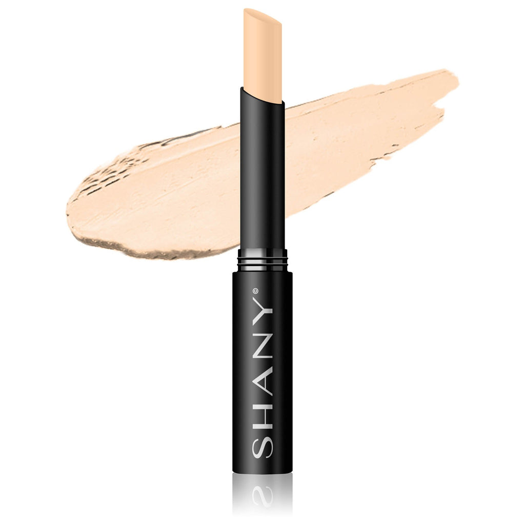 SHANY Crème Concealer Stick - Paraben Free/Talc Free - BROWN - ITEM# FCS-PARENT - The multi-purpose SHANY Crème Concealer not only hides your flaws (dark spots, redness, blemishes, and dark circles), but it also heals, soothes, and protects. This miracle formula is made with natural ingredients without talc or paraben