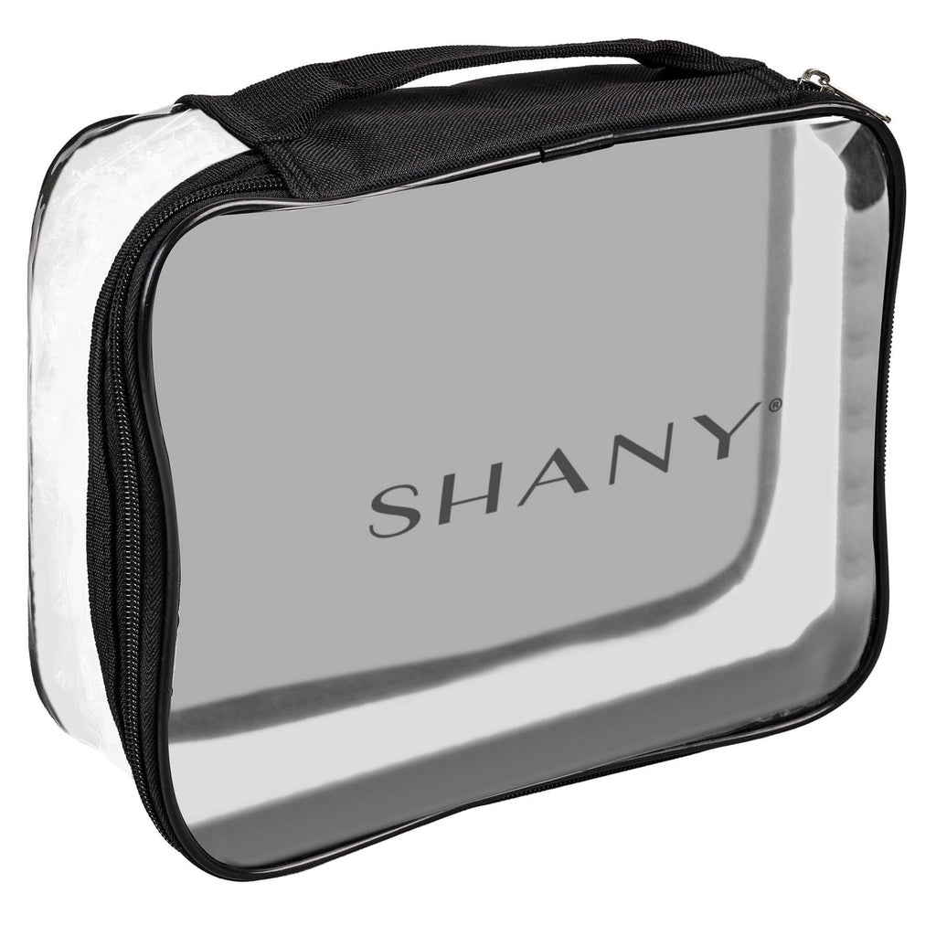 SHANY Travel Bag- Waterproof- Clear -  - ITEM# SH-PC10 - Clear cosmetic bags travel waterproof makeup carry,Toiletry stationery zipper large organizer durable,Victoria secret dooney guess women purse small kit,Personal transparent pvc portable pouch storage,Shampoo bathroom toothbrush caddy container case - UPC# 616450439521