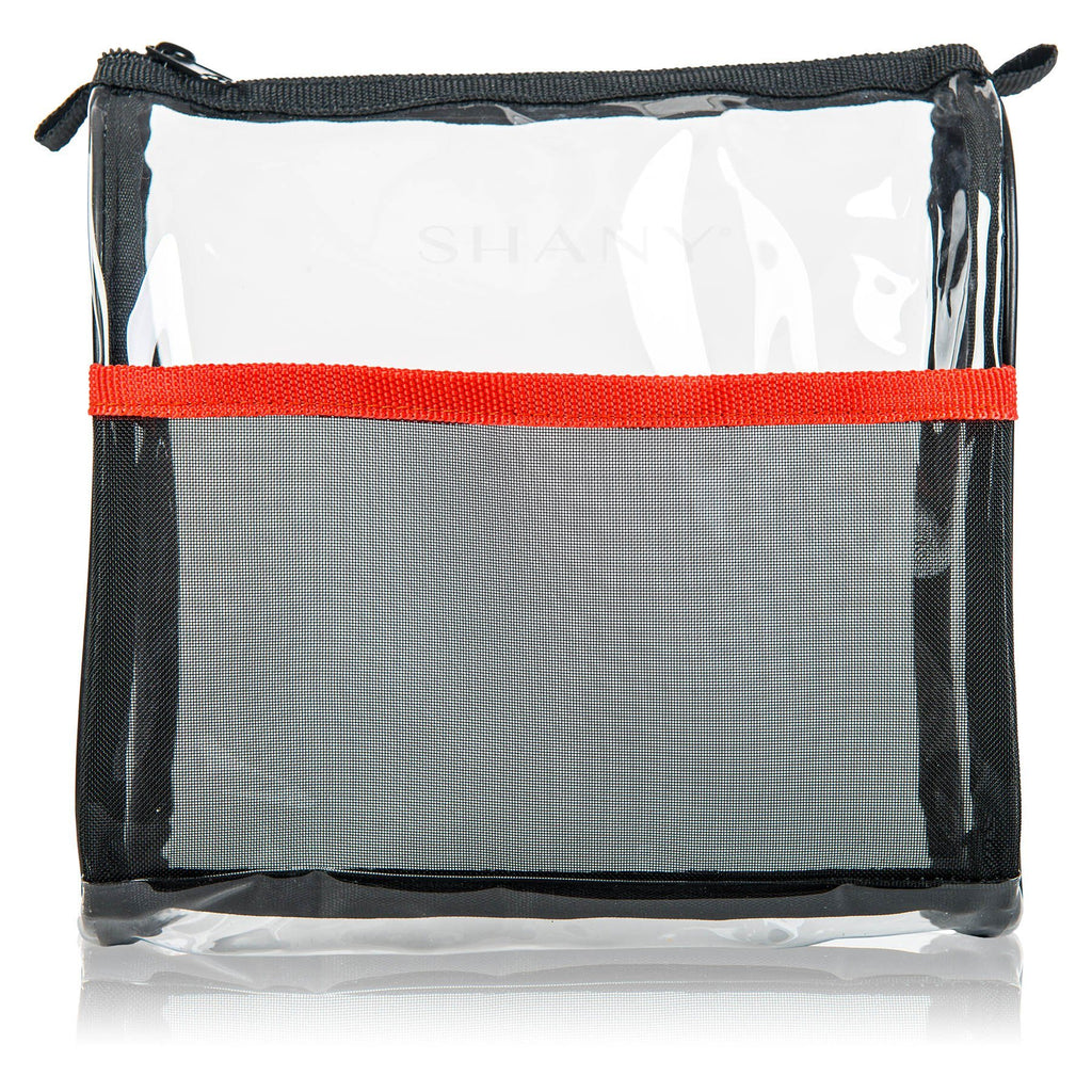 SHANY Makeup Travel Bags- 3 Piece -  - ITEM# SH-PC05 - Clear travel makeup cosmetic bags carry Toiletry,PVC Cosmetic tote bag Organizer stadium clear bag,travel packing transparent space saver bags gift,Travel Carry On Airport Airline Compliant Bag,TSA approved Toiletries Cosmetic Pouch Makeup Bags - UPC# 616450439477