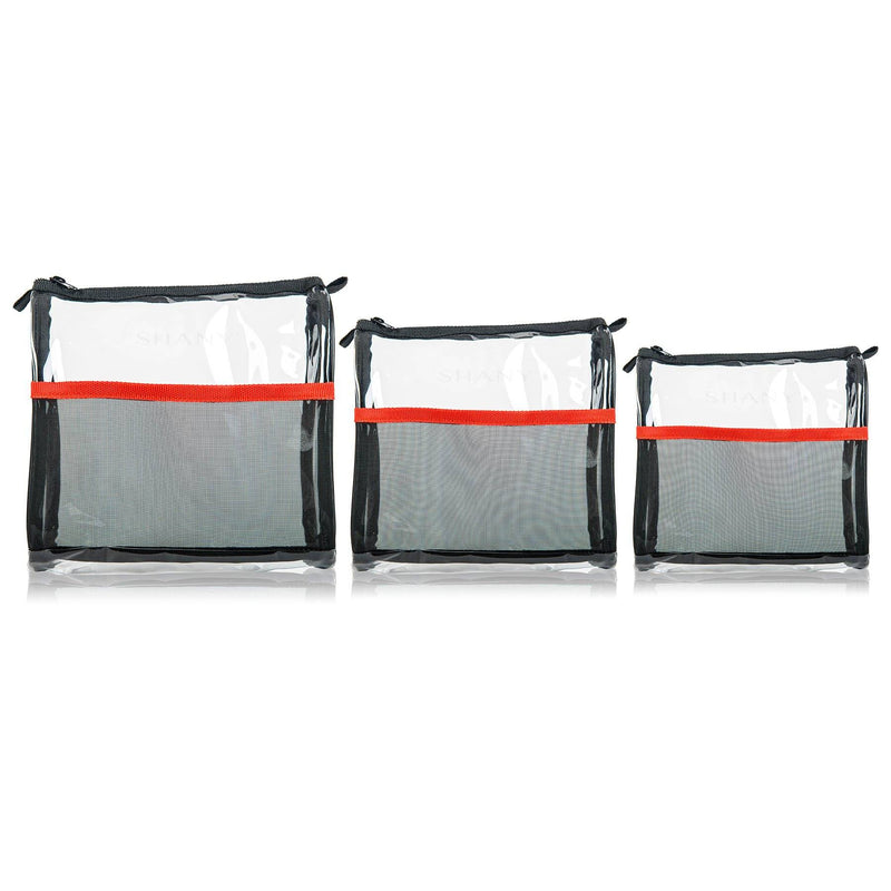 Weekend Adventure Trio- Three Piece Set of Travel Makeup Bags -  - ITEM# SH-PC05 - From the creators of the insanely popular Ombre Pro 10 Piece Essential Brush Set, SHANY brings you their new line of perfect travel-ready and storage bags. The SHANY Weekend Adventure Trio comes with three various sized water-resistant