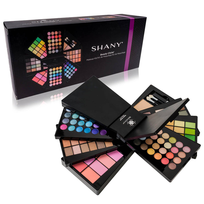SHANY Beauty Cliche Makeup Palette -  - ITEM# SH-188 - Makeup set train case Contour makeup set kit gift,beginner makeup kits for teens makeup palette,Holiday Gift Set Beginner Makeup tools brush sets,pre teen make up makeup kits for teens girls,Christmas gift Dress-Up Toy pretend Makeup kit set - UPC# 616450437633