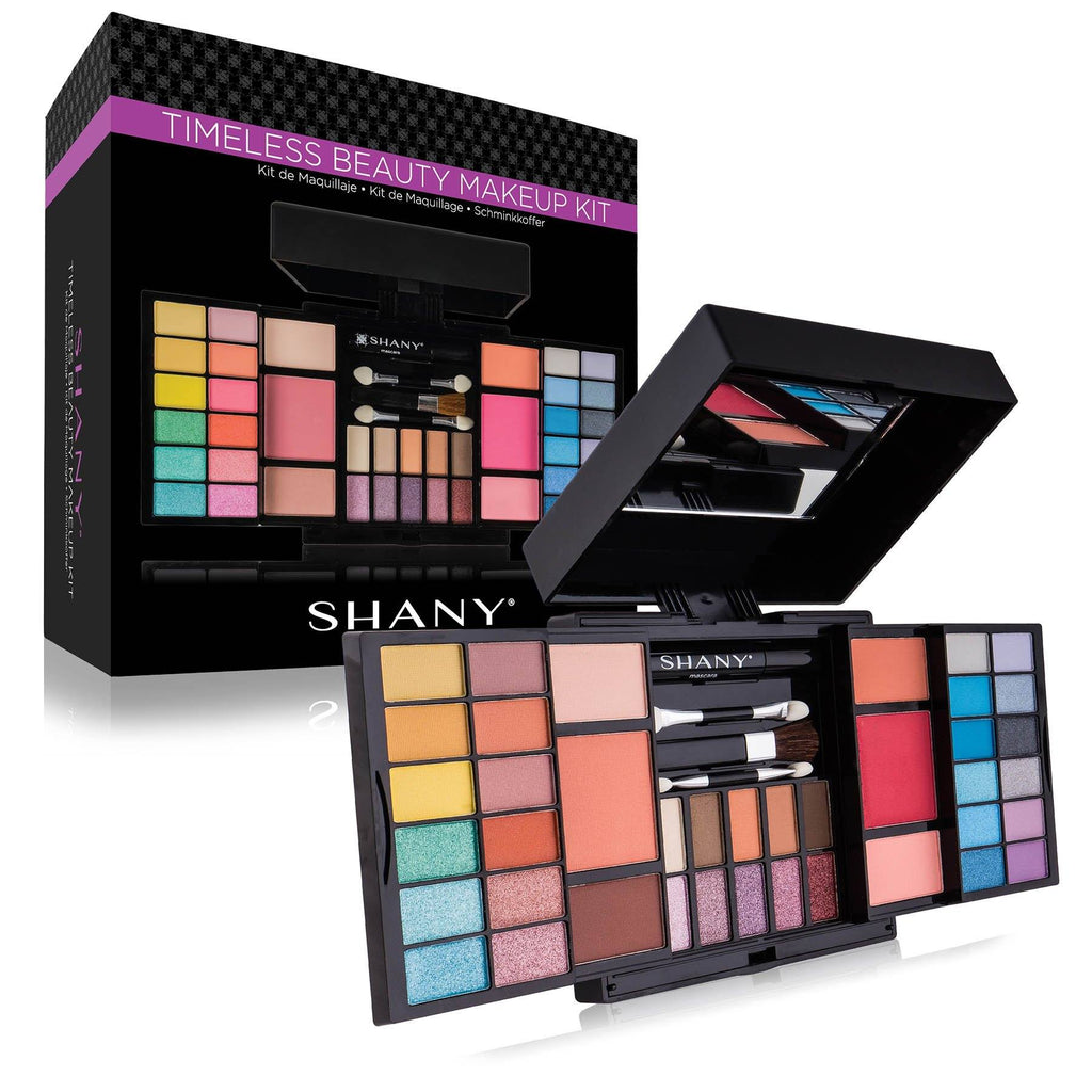 SHANY 'Timeless Beauty' Makeup Kit -  - ITEM# SH-173 - Makeup set train case Contour makeup set kit gift,beginner makeup kits for teens makeup palette,Holiday Gift Set Beginner Makeup tools brush sets,pre teen make up makeup kits for teens girls,Christmas gift Dress-Up Toy pretend Makeup kit set - UPC# 616450437626