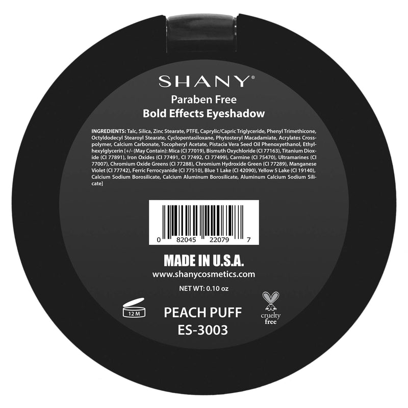"SHANY Matte Eyeshadow - Paraben Free - PEACH PUFF - PEACH PUFF - ITEM# ES-3003 - From the creators of The Masterpiece 7 Layer 'All-in-one"" makeup set, SHANY brings you their marvelous Matte Eye Shadow collection! Our classic matte shades are the essential staple for any makeup enthusiast. These eye shadows glide on li"
