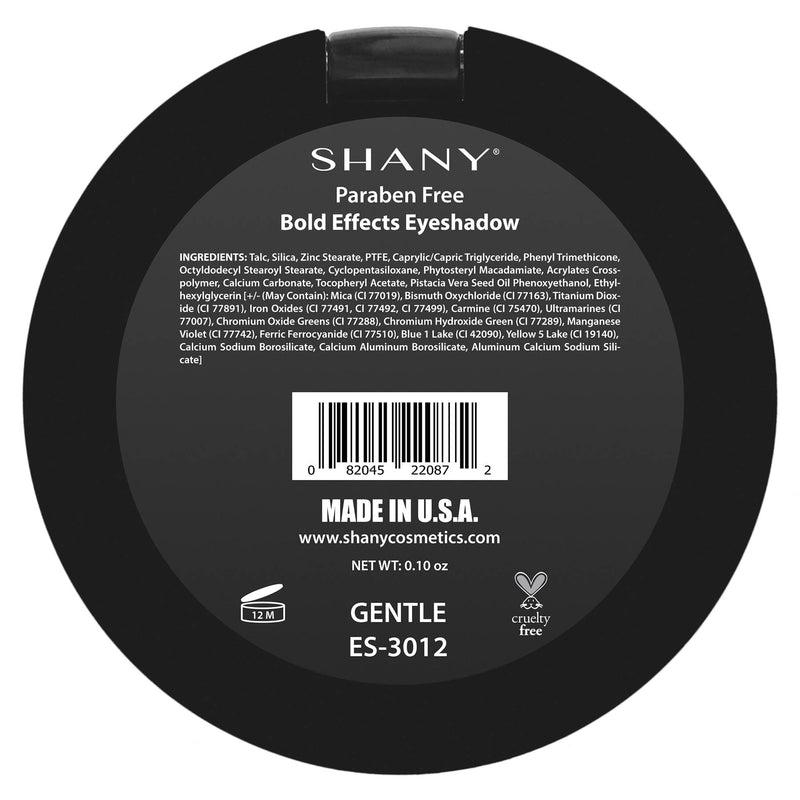 "SHANY Matte Eyeshadow - Paraben Free - GENTLE - GENTLE - ITEM# ES-3012 - From the creators of The Masterpiece 7 Layer 'All-in-one"" makeup set, SHANY brings you their marvelous Matte Eye Shadow collection! Our classic matte shades are the essential staple for any makeup enthusiast. These eye shadows glide on like color"