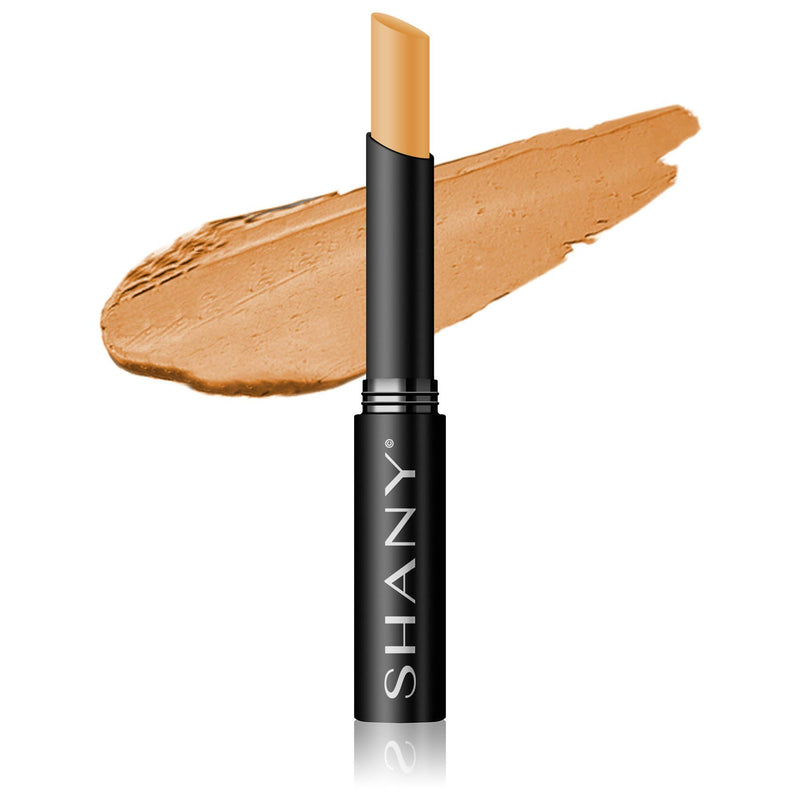 SHANY Crème Concealer Stick - Paraben Free- MW3 - MEDIUM WARM 3 - ITEM# FCS-MW3 - Concealer makeup palette stick light cream powder,Dark circle under eye pen foundation corrector kit,Bare minerals revlon loreal maybelline neutrogena,Women cosmetic loose waterproof natural base face,Brightening talc free liquid finish full coverage - UPC# 082045220322