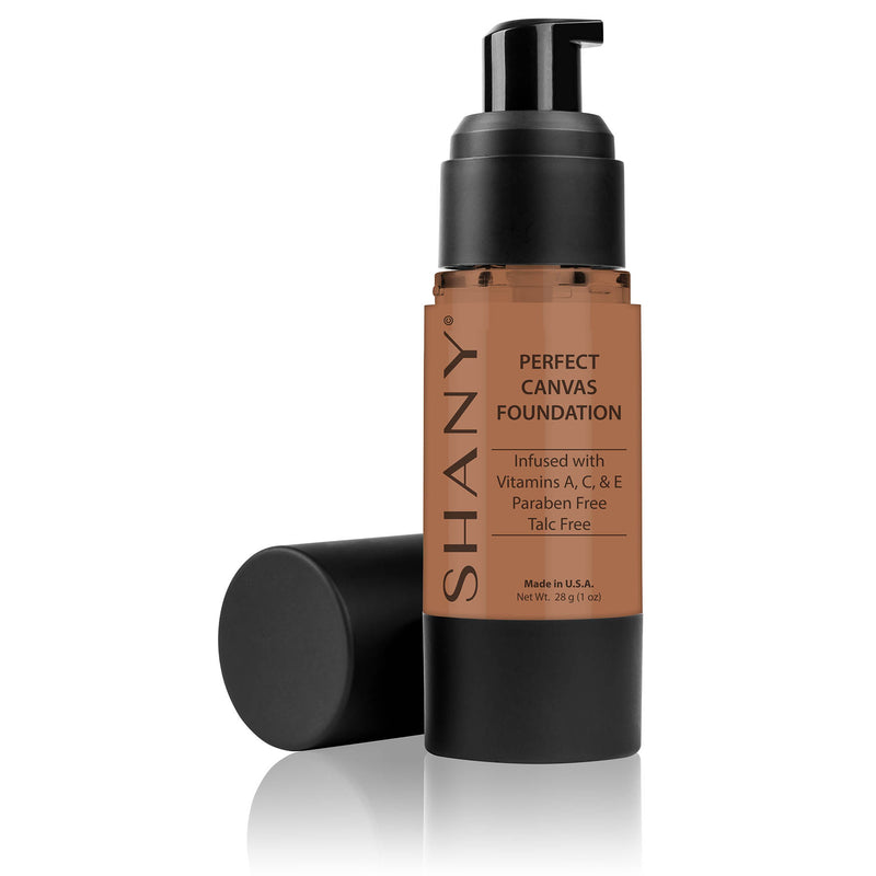 SHANY Perfect Canvas Liquid Foundation - Paraben Free/Talc Free/Oil Free - 30ml - DC1 - SHOP DARK COOL 1 - FOUNDATION - ITEM# FL-DC1