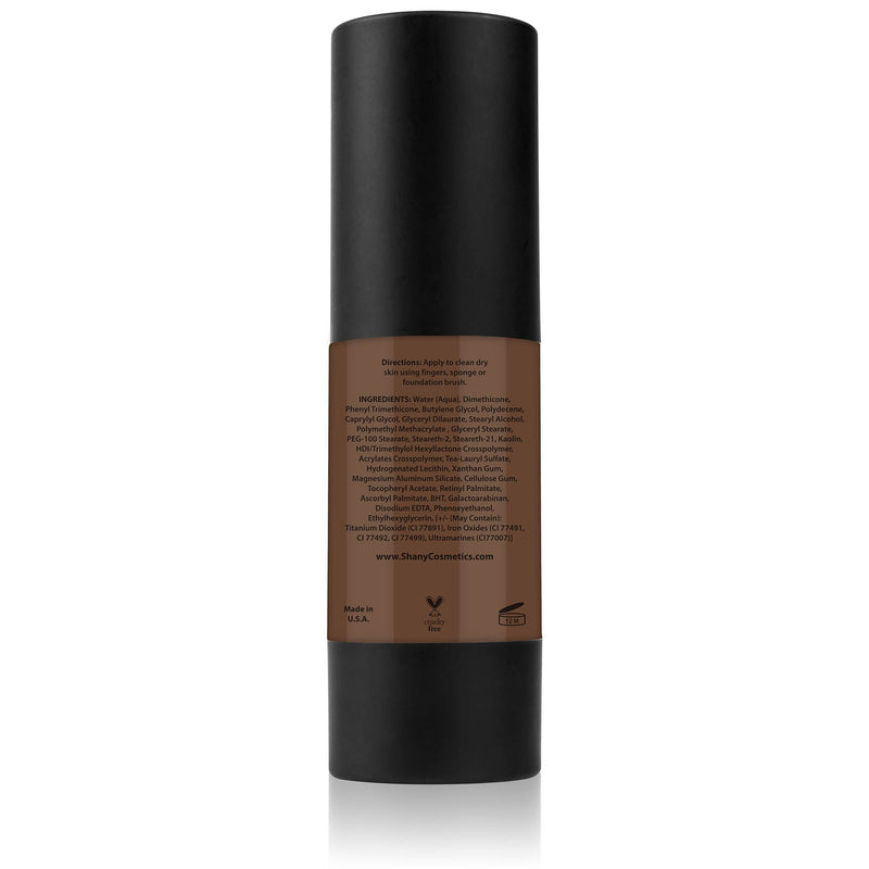 SHANY Perfect Canvas Liquid Foundation - Paraben Free/Talc Free/Oil Free - 30ml - DARK COOL 2 - ITEM# FL-DC2 - You don't to spend hundreds of dollars for the cover-model complexion. The SHANY Perfect Canvas Foundation is like professional re-touching in a jar! This foundation soft has focus powders to bounce light off