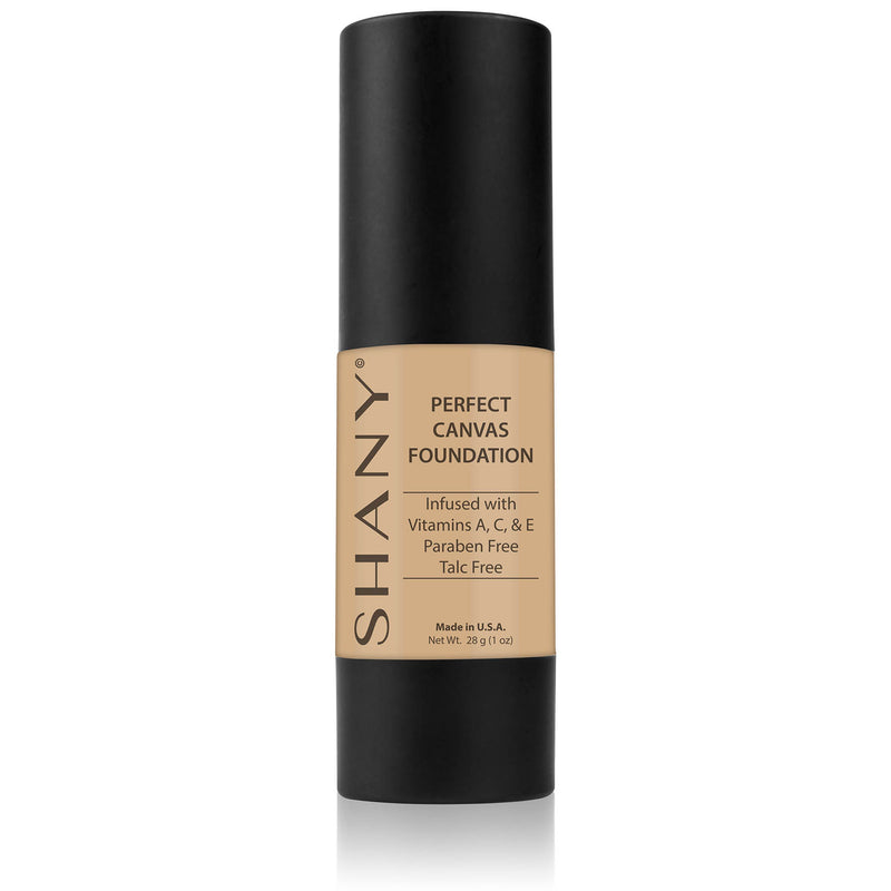 SHANY Perfect Canvas Liquid Foundation - Paraben Free/Talc Free/Oil Free - BROWN - ITEM# FL-PARENT - You don't to spend hundreds of dollars for the cover-model complexion. The SHANY Perfect Canvas Foundation is like professional re-touching in a jar! This foundation soft has focus powders to bounce light off of skin i