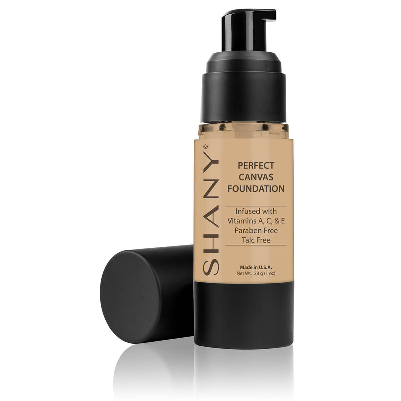 SHANY Perfect Canvas Liquid Foundation - Paraben-Free/ Talc-Free/ Oil-Free - SHOP BROWN - FOUNDATION - ITEM# FL-PARENT