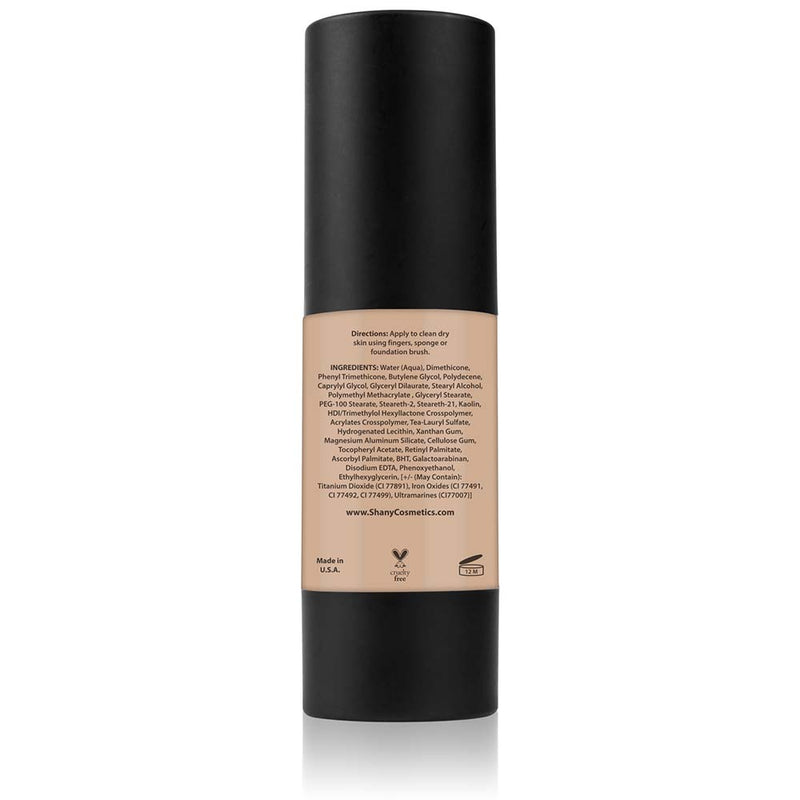 SHANY Perfect Canvas Liquid Foundation - Paraben Free/Talc Free/Oil Free - 30ml - MEDIUM COOL 2 - ITEM# FL-MC2 - You don't to spend hundreds of dollars for the cover-model complexion. The SHANY Perfect Canvas Foundation is like professional re-touching in a jar! This foundation soft has focus powders to bounce light o
