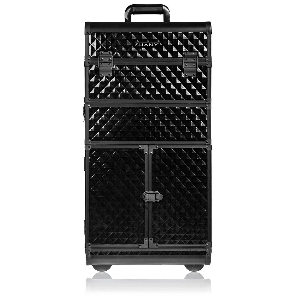 SHANY REBEL Series Pro Makeup Artists Rolling Train Case Trolley Case - SHOP BLACK - MAKEUP TRAIN CASES - ITEM# SH-REBEL-PARENT