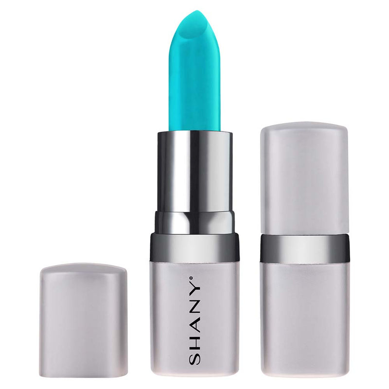 SHANY Bold Lipstick - Paraben Free/Talc Free - MAYA BLUE - MAYA BLUE - ITEM# LP302 - The new line of SHANY Bold Lipsticks are not only long lasting, but also good for your lips! This full-coverage lipstick goes on smoothly and applies evenly. It comes in a wide variety of bold and adventurous colors and tones to best