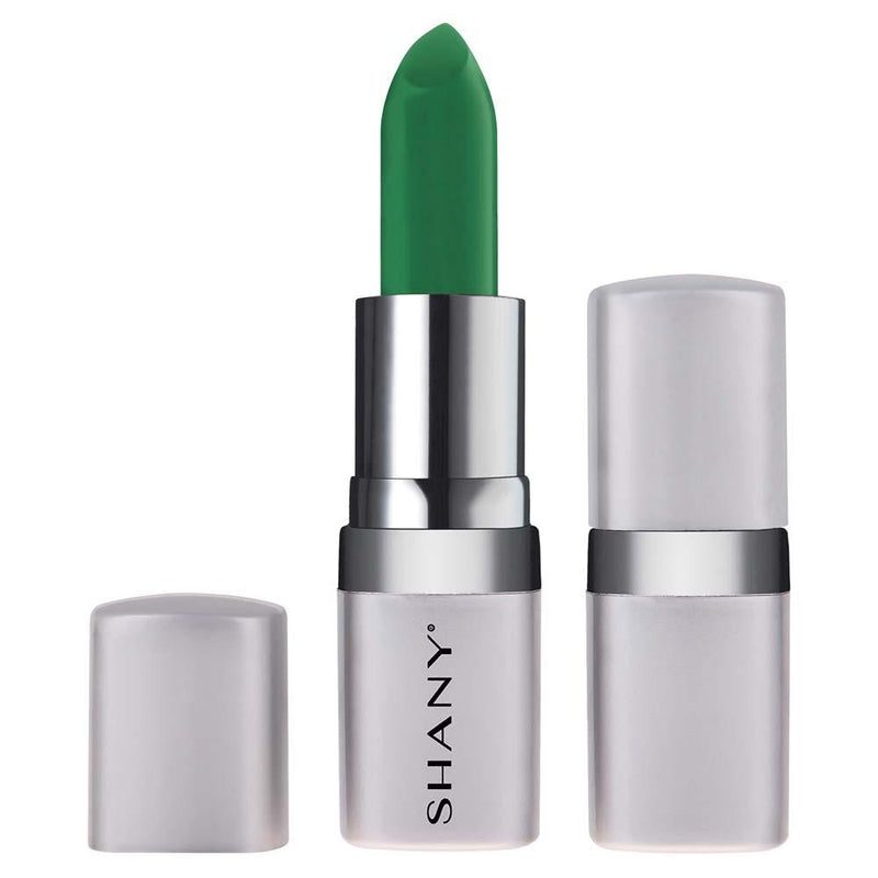 SHANY Bold Lipstick - Paraben Free/Talc Free - PINE GREEN - PINE GREEN - ITEM# LP312 - The new line of SHANY Bold Lipsticks are not only long lasting, but also good for your lips! This full-coverage lipstick goes on smoothly and applies evenly. It comes in a wide variety of bold and adventurous colors and tones to bes