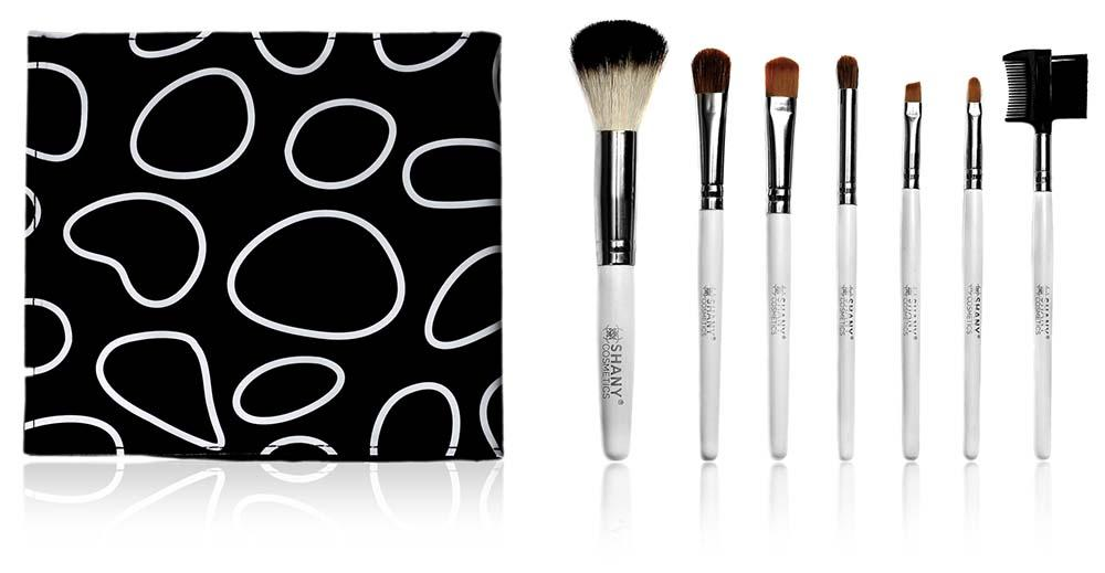 SHANY Pony Bristles Mini Travel Brush Kit- 7pc - 6PC - ITEM# SH-0007-BK - makeup contour brush set Holiday gift for her mom,it cosmetics brushes BH brush set BS-MALL Makeup,morphe brush set Makeup Brushes Premium Synthetic,cosmetics brush set applicator makeup brush sets,makeup brush set with case Zoreya brush bag makeup - UPC# 738435231439