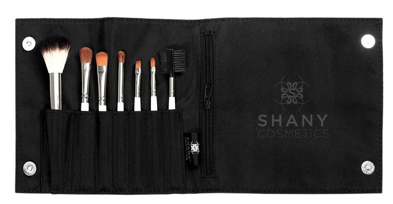 SHANY Pony Bristles Mini Travel Brush Kit - Mini Brushes with Pouch - Urban Gal - 6PC - ITEM# SH-0007-BK - Urban Gal collection is a new Line of Beauty Accessories by SHANY Cosmetics, made for Everyday life. They are Affordable, Durable design and High quality Brushes. Compare to department store price and quality, Ur