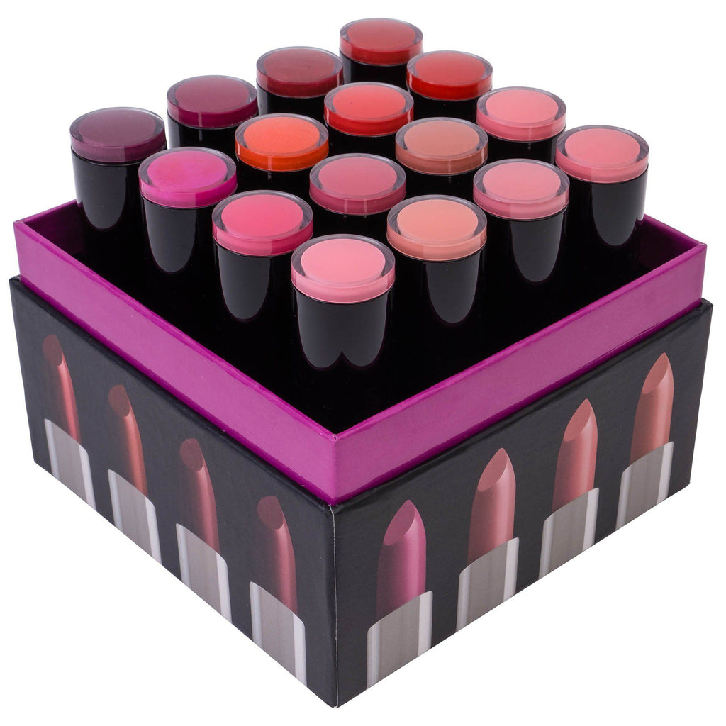 SHANY (Not So) Sweet Sixteen Creme Lipstick Set - Smooth, Highly Pigmented Lip Shades for All Day Wear - 16 Varying Colors - SHOP  - LIP SETS - ITEM# SH-0016LP