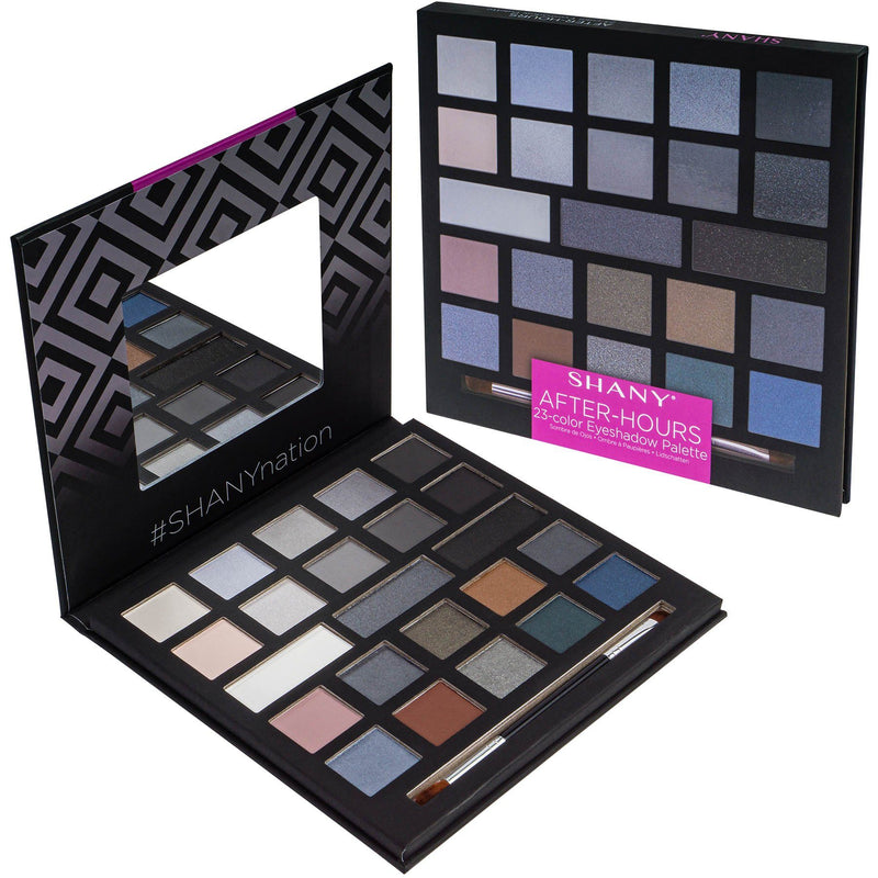SHANY After-Hours Eyeshadow Palette - AFTER-HOURS - ITEM# SH-0023-S - 35 color eyeshadow SHANY palette beauty glazed,Pro 35 color palette eyeshadow set glitter make up,Morphe tarte mac nyx sephora maybelline anastasia,makeup palette eye make-up color palette cosmetics,organizer make up palette cheap teen girls makeup - UPC# 810028460461