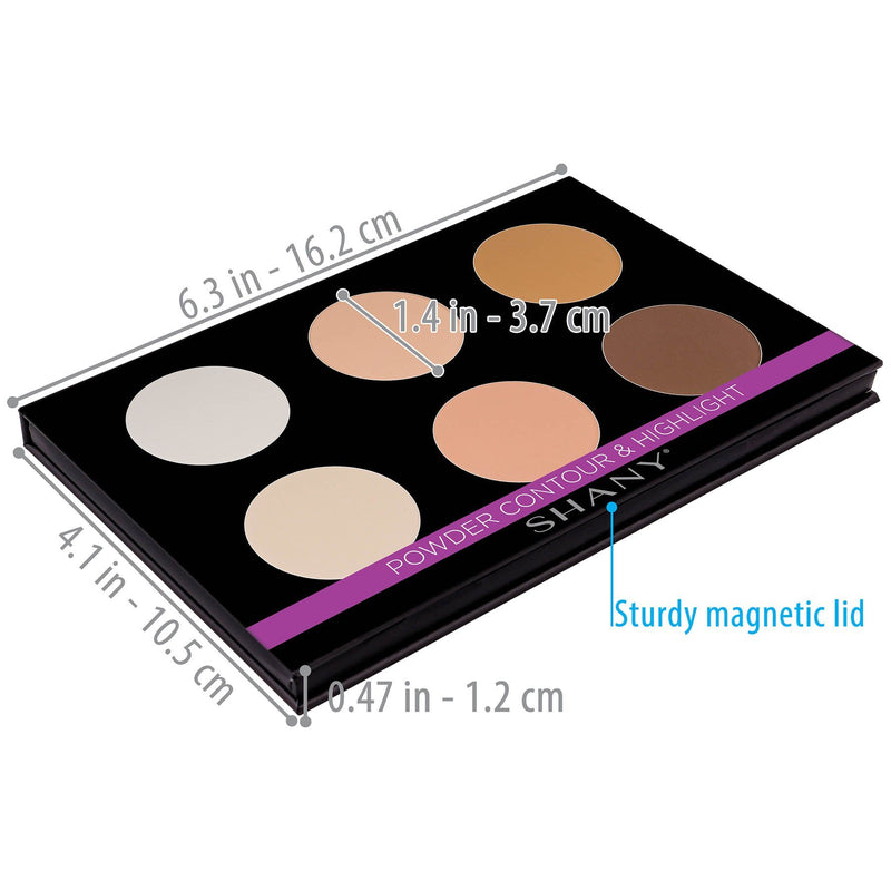 SHANY Powder Contour & Highlight Sculpting Palette - POWDER - ITEM# SH-6L-03 - Best seller in cosmetics FACE POWDER category