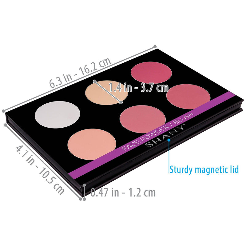 SHANY Shimmer & Matte Blush/Highlighter Palette - HIGHLIGHTER - ITEM# SH-6L-04 - Best seller in cosmetics BLUSH category