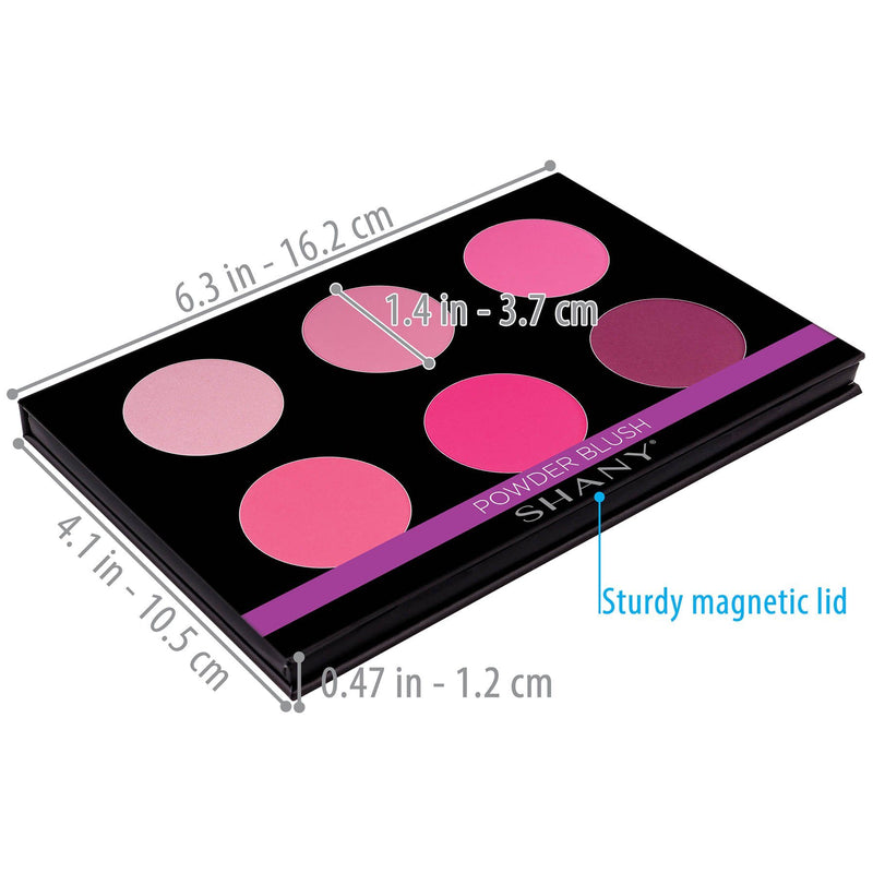 SHANY Shimmer & Matte Cool Blush Palette - COOL BLUSH - ITEM# SH-6L-05 - Best seller in cosmetics BLUSH category