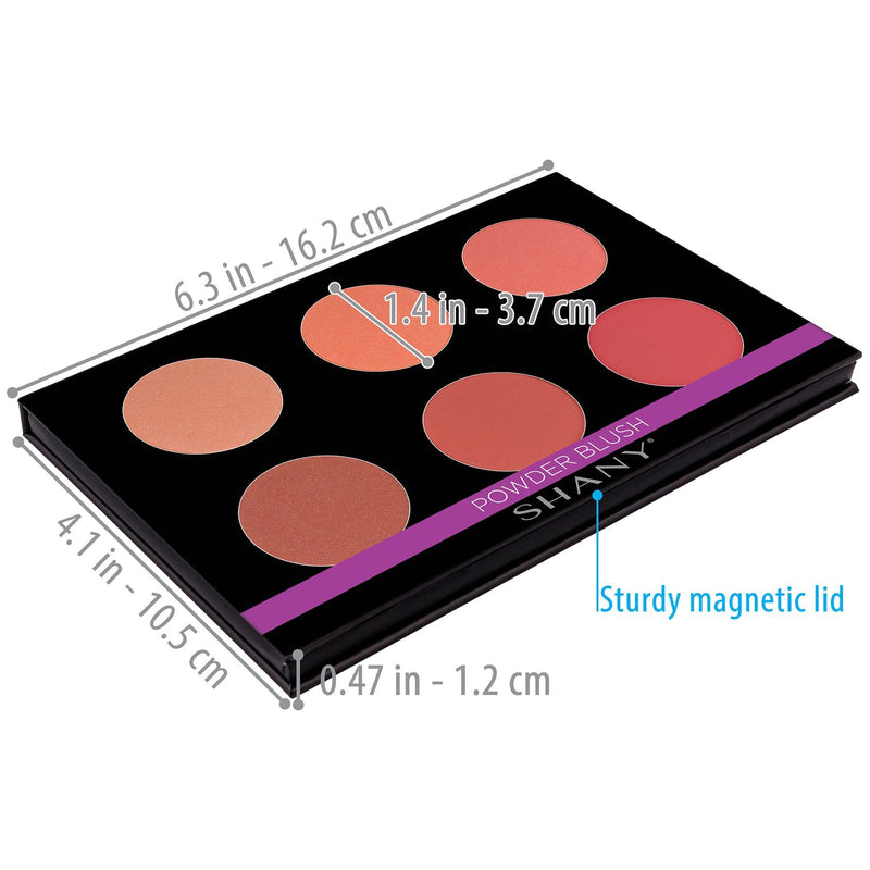 SHANY Shimmer & Matte Warm Blush Palette - WARM BLUSH - ITEM# SH-6L-06 - Best seller in cosmetics BLUSH category
