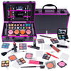SHANY Carry All Makeup Train Case with All-In-One Professional Makeup and Reusable Aluminum Cosmetics Case - HOLIDAY EXCLUSIVE - SHOP PURPLE - MAKEUP SETS - ITEM# SH-10402-PR