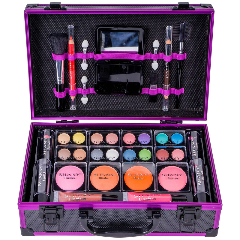 SHANY Carry All Makeup Train Case - PURPLE