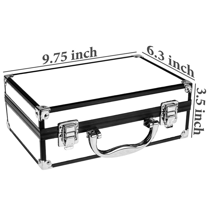 SHANY Makeup Train Case-Aluminum Case-Silver - SILVER - ITEM# SH-10402 - Best seller in cosmetics MAKEUP SETS category