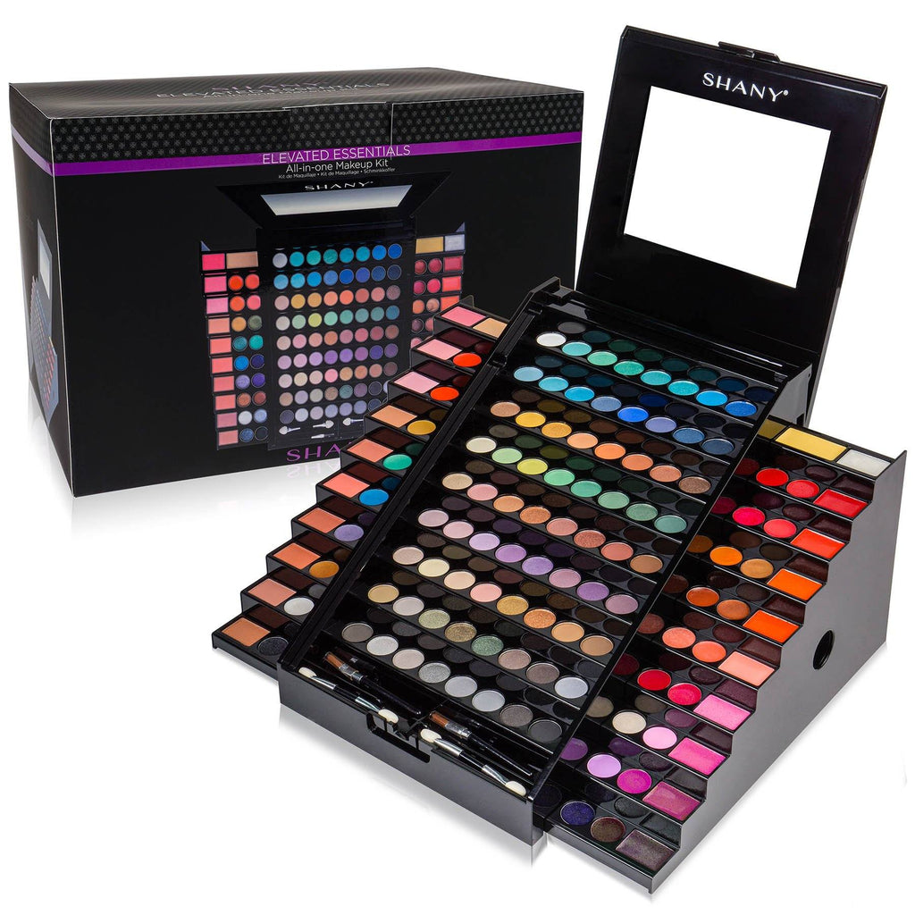 SHANY Elevated Essentials Makeup Set - All-in-One Makeup Kit with 72 Eyeshadows, 28 Lip Colors, 18 Gel Eyeliners, 10 Blushes, 1 Eye Primer, and 1 Cream Concealer - SHOP  - EYE SHADOW SETS - ITEM# SH-190
