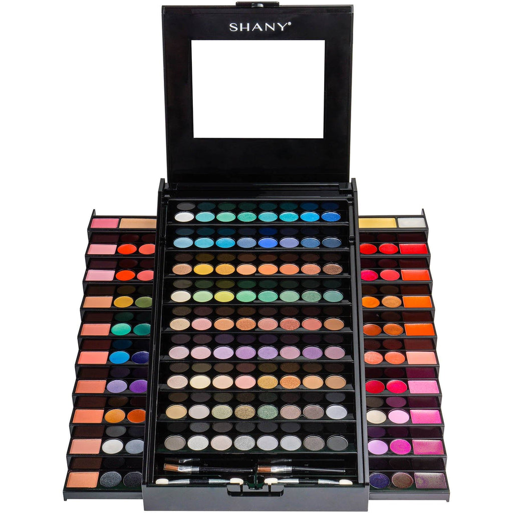 SHANY Elevated Essentials All-in-One Makeup Set -  - ITEM# SH-190 - Multicolor eye makeup palettes glitter eyeshadow,Cream color professional women salon accessories,Makeup set, kids makeup, teen makeup, unicorn set,Make up kit, makeup palette, mermaid makeup set,holiday gift cosmetics box train case gift set kit - UPC# 810028460515
