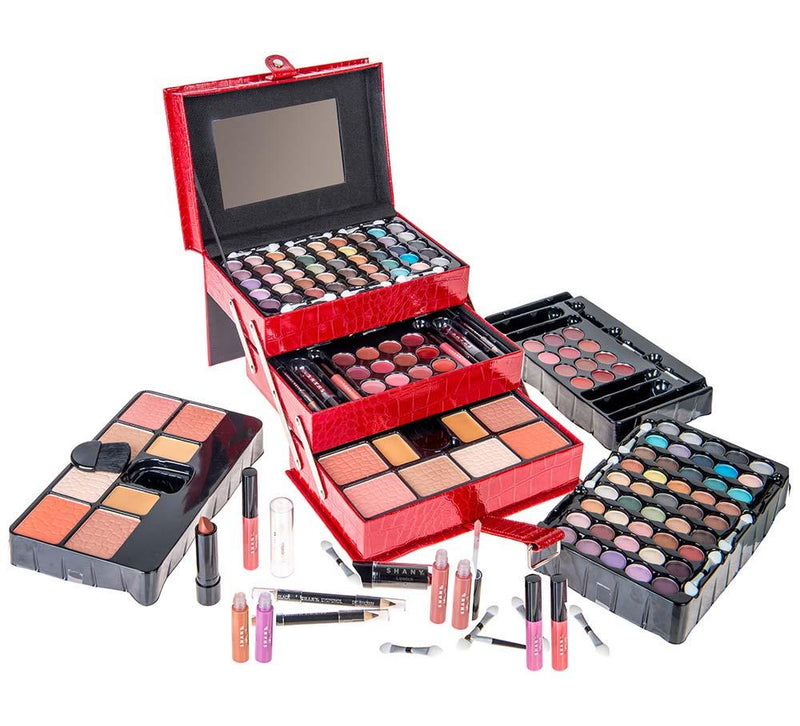 SHANY All In One Makeup Kit (Eyeshadow, Blushes, Powder, Lipstick & More) Holiday Exclusive - SHOP RED - MAKEUP SETS - ITEM# SH-2012