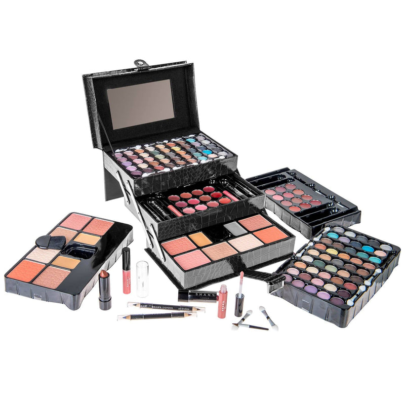 SHANY All In One Makeup Kit (Eyeshadow, Blushes, Powder, Lipstick & More) Holiday Exclusive - BLACK - SHOP BLACK - MAKEUP SETS - ITEM# SH-2016