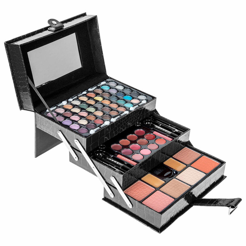 SHANY All In One Makeup Kit - BLACK - ITEM# SH-2016 - Best seller in cosmetics MAKEUP SETS category